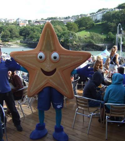Starfish mascot at Ilfracombe Aquarium