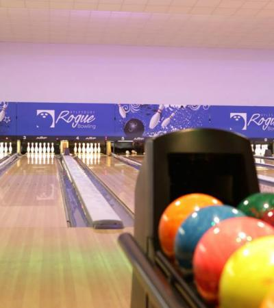 Bowling alleys at Rogue Bowling in Aylesbury