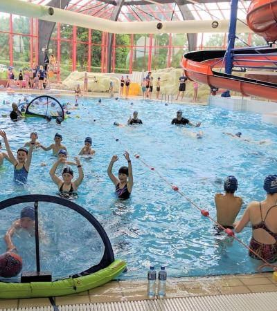 Kids playing water polo at Blackwater Leisure Centre in Maldon