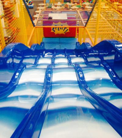 Soft play slides at Prendoolys St Helens