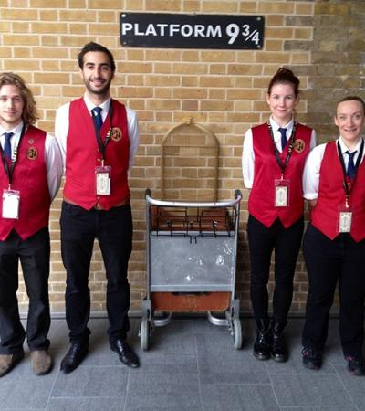 Staff at Potter Platform at Kings Cross Station in Kings Cross