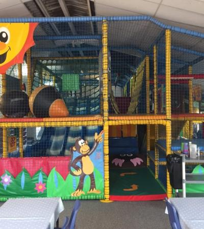 Indoor soft play frame at Cheeky Monkeys Play Barn in Fulbourn