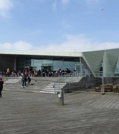 Outside view of Southend Pier Museum in Southend On Sea