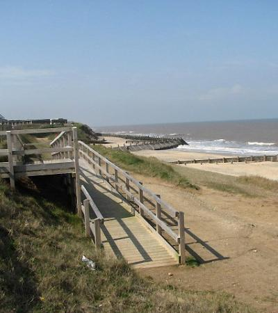 A view of Bacton Beach, Bacton