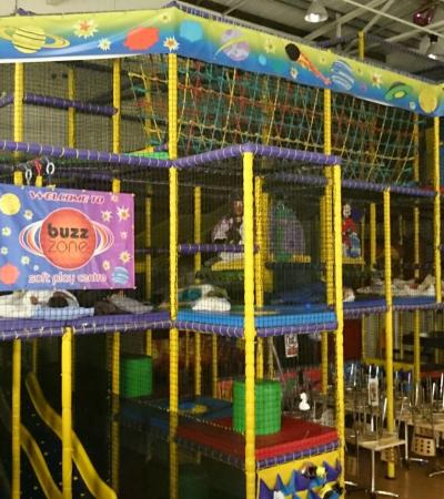 Indoor soft play frame at The Spa at Beckenham