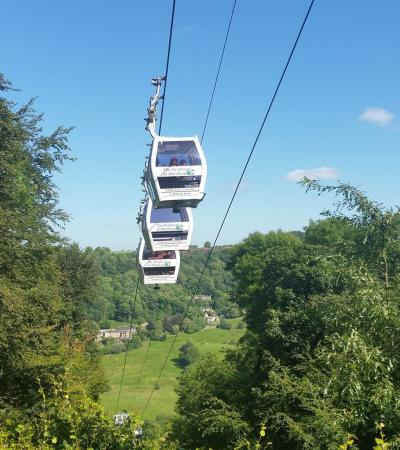 Cable cars at The Heights of Abraham in Matlock Bath