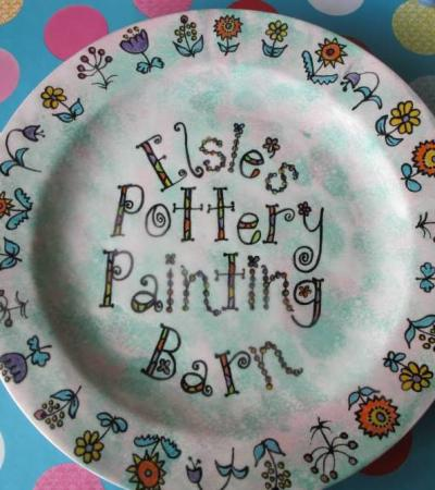 Finished craft at Elsies Pottery Painting Barn in Market Harborough