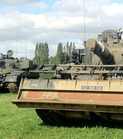 Military tanks at Norfolk Tank Museum in Forncett St Peter