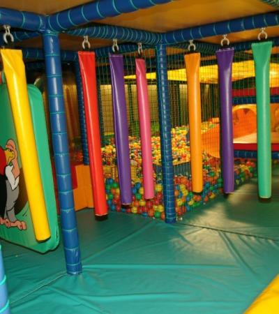 Indoor soft play frame at The Jungle Club in Leicester