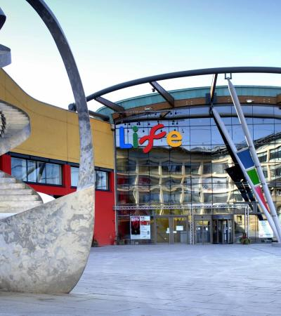 Outside view of Centre for Life in Newcastle upon Tyne