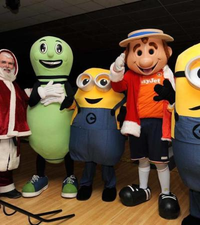 Santa and minions at Go Bowling Dunstable