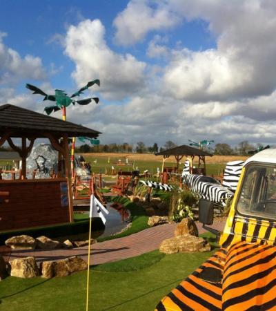 Mini golf course at Congo Rapids Adventure Golf in Norwich