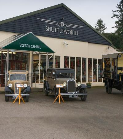 Outside view of The Shuttleworth Collection in Biggleswade