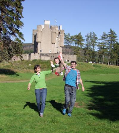 Family at Braemar Castle