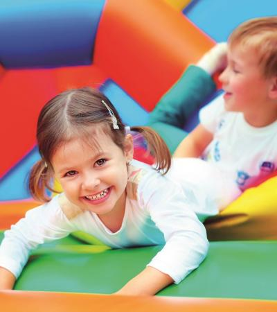 Kids on soft play at Parklands Leisure Centre in Oadby
