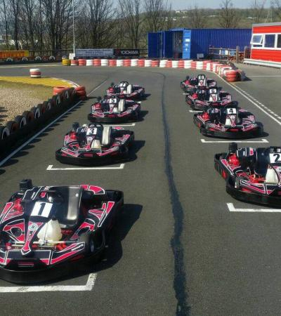 Go karts at Parkwood Karting in Sheffield