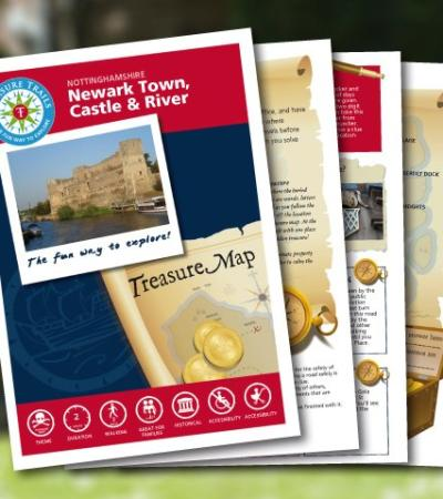Map and booklet for The Newark Treasure Trail