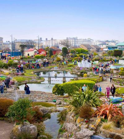 Families at Merrivale Model Village in Great Yarmouth