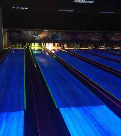 Bowling alleys at Boston Bowl