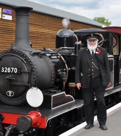 Steam train at Kent & East Sussex Railway in Tenterden