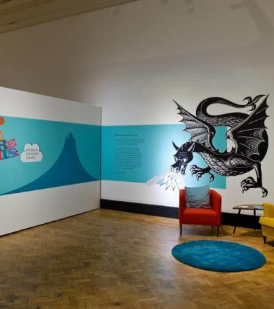 Seating area at Laing Art Gallery in Newcastl upon Tyne