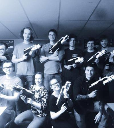 People with activity guns at Si5 Spy Missions Cambridge