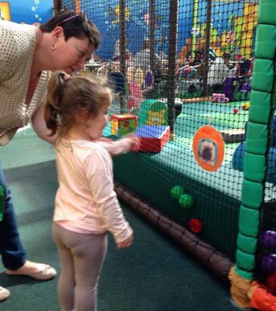 Mum and daughter at Playmania Indoor Playcentre in Mansfield