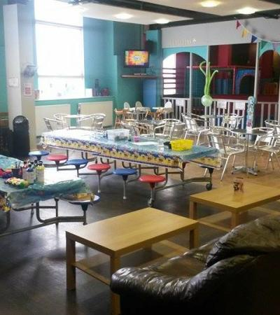 Cafe and party area at Megakidz Indoor Play Centre in Sheffield