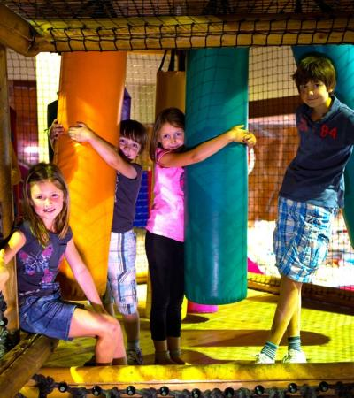 Kids on soft play frame at Kidspace Croydon