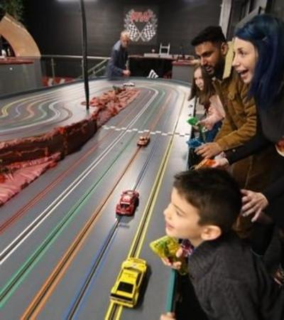 Some kids playing RaceCars in Milton Keynes