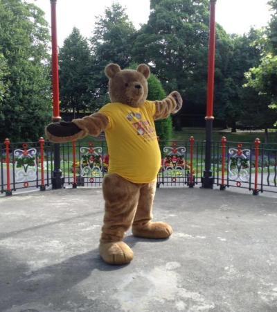 Bear mascot at Dorset Teddy Bear Museum in Dorchester