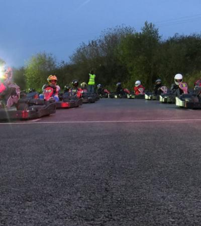 People go kart racing at Karttrak Cromer