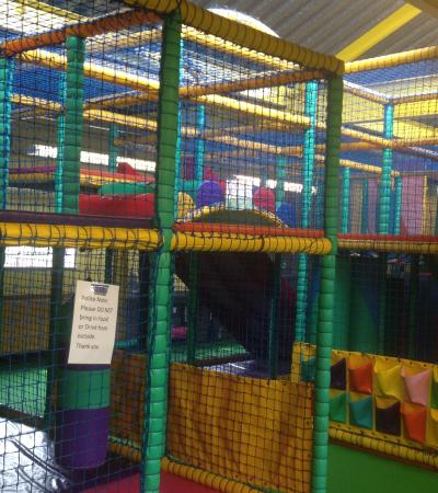 Indoor soft play frame at Whizz Kidz in Godalming