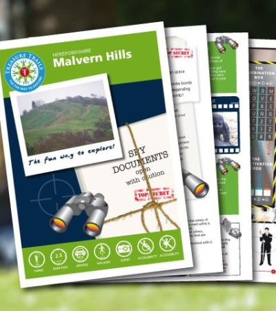 Map and booklet for Malvern Hills Spy Mission Treasure Trail