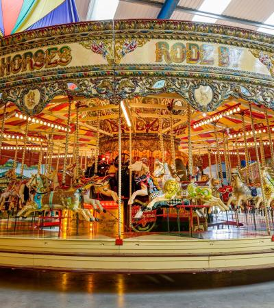 Merry go round at Dingles Fairground Heritage Centre in Lifton