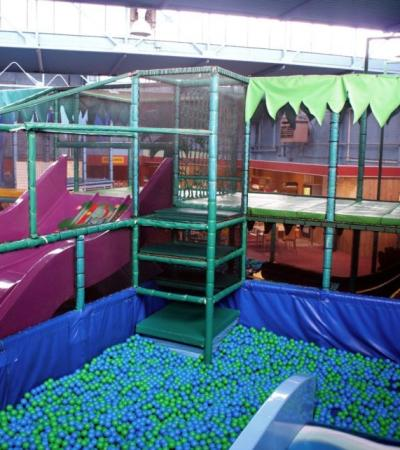 Indoor soft play frame at Kids World Bedford