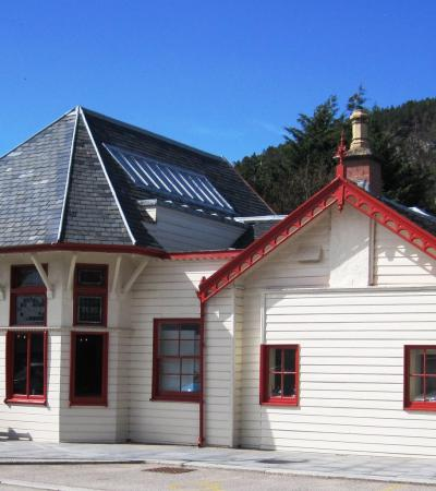 Outside view of The Old Royal Station at Ballater