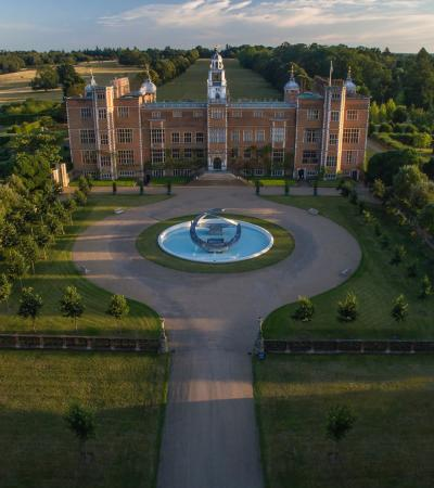 Outside view of Hatfield House and Park