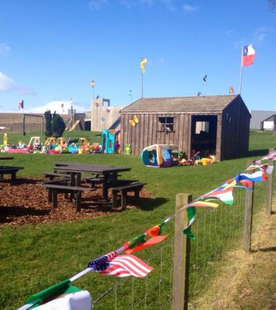 Picnic and play area at Charleton Fruit Farm in Montrose