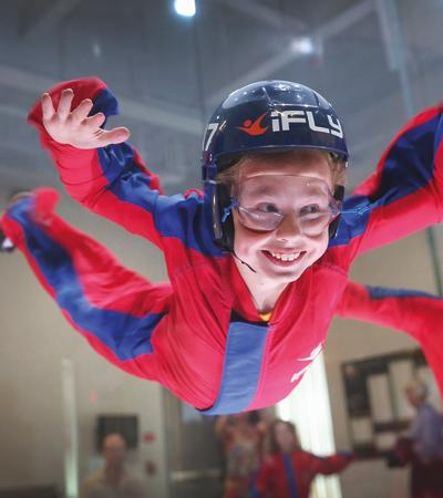 Girl in flight experience at Airkix Indoor Skydiving Milton Keynes