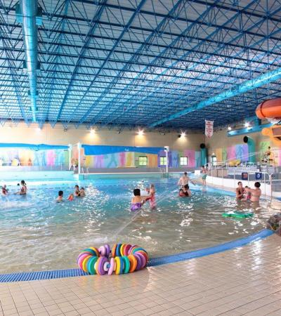 Families playing at Swallows Leisure Centre in Sittingbourne