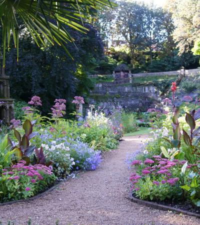 Walk way at The Plantation Garden in Norwich