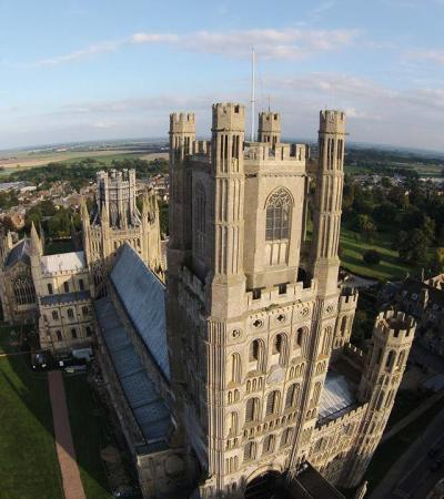 Aerial view of Ely Cathedral