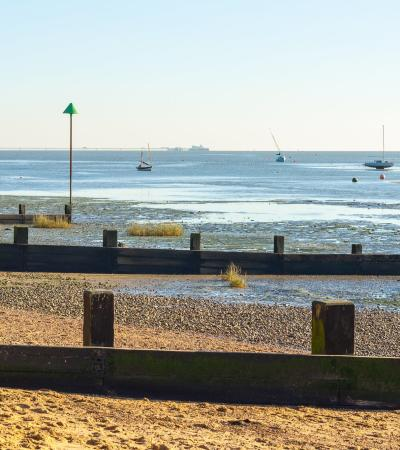 Clear day at Leigh on Sea Beach