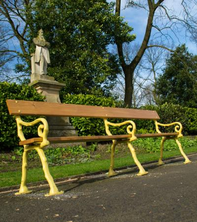 Bench at Queens Park in Bolton