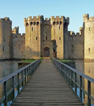 Outside view of Bodiam Castle in Robertsbridge