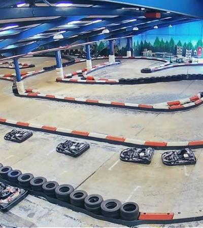 Indoor track at The Kurburgring in Huthwaite