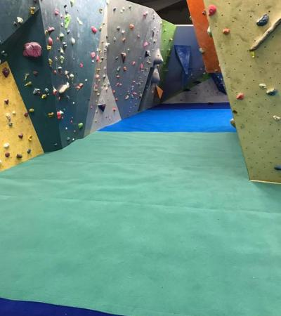 Climbing walls at Big Rock Climbing Centre in Milton Keynes