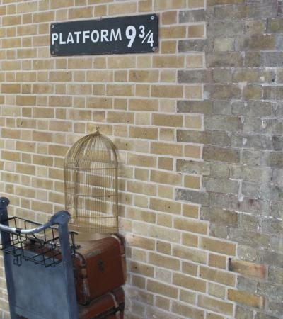 Platform 9 and three quarters at Harry Potter London Bus Tour in London