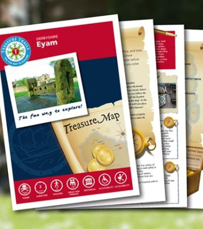 Map and booklet for The Eyam Treasure Trail